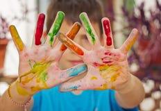 Händer i färger Royaltyfri Fotografi