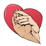 Händer i hjärta Fotografering för Bildbyråer