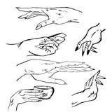 Händer manuella diagram Royaltyfri Illustrationer