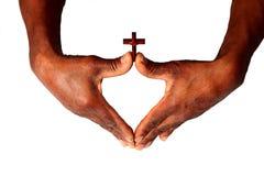Händer med arg symbolisera förälskelse av guden royaltyfri foto