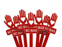 Händer med inget krig Arkivbild