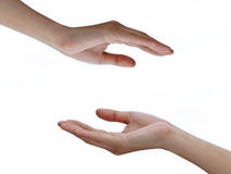 Händer med tomt utrymme Arkivbild