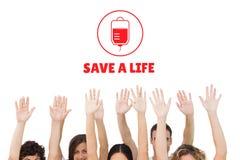 Händer och begrepp för bloddonation Royaltyfri Fotografi