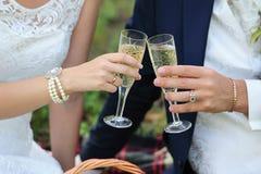 Händer och ett handlag av exponeringsglas royaltyfri foto