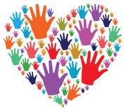 Händer och förälskelse Arkivbild