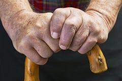 Händer och pinne Royaltyfri Bild