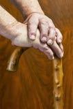 Händer och pinne Royaltyfria Foton