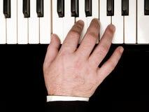 Händer - pianospelare Royaltyfri Fotografi