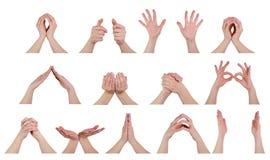Händer poserar in Arkivfoton