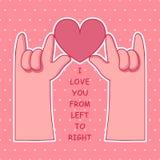 Händer som gör hjärtasymbol Stock Illustrationer