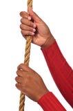 händer som rymmer repet Royaltyfria Foton