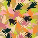 Händer (som upprepar modellen) Arkivfoto