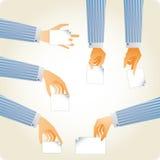 händer ställde in praktiskt stock illustrationer