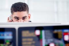 Händler bei der Arbeit Lizenzfreies Stockbild