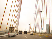hänga för bro Royaltyfri Fotografi