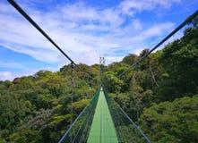 hänga för bro Monteverde Costa Rica arkivbilder
