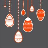 hänga för easter ägg Arkivfoto