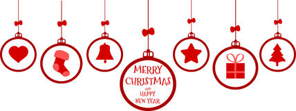Hänga för julbeståndsdelar Royaltyfria Bilder