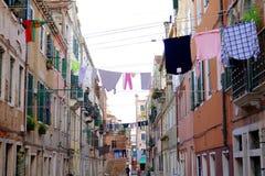 hänga för kläder Arkivbild