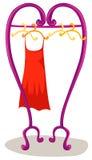hänga för klänning Arkivfoto