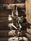 hänga för skygglappartygel royaltyfria foton