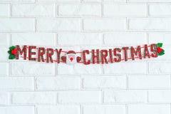 Hänga för tecken för glad jul Royaltyfri Bild