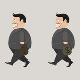 Hänga lös av pengar Affärsman Stock Illustrationer