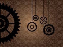 Hänga några kugghjuldelar vektor illustrationer
