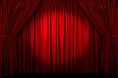 hänga upp gardiner händelsen Royaltyfri Foto