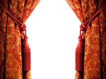 hänga upp gardiner lyx Royaltyfri Bild