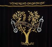 hänga upp gardiner synagogan Royaltyfria Foton