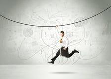 Hängande affärsmanbegrepp Arkivbilder