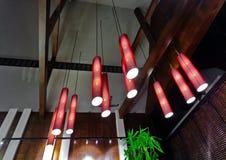 Hängande belysningfasta tillbehör i thailändsk stil Fotografering för Bildbyråer