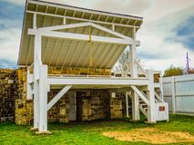 Hängande domare Gallows i Fort Smith, Arkansas Arkivbild