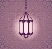 Hängande färgrik arabisk lykta för Ramadan stock illustrationer