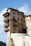 Hängande hus av Cuenca - Spanien Fotografering för Bildbyråer