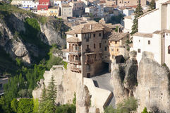 Hängande hus av Cuenca - Spanien Royaltyfri Fotografi
