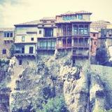 Hängande hus i Cuenca Arkivfoton