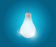 Hängande illustrationdesign för ljus kula Arkivfoton