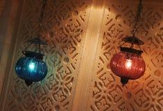 hängande lampor royaltyfria bilder