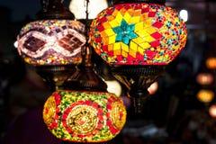Hängande lampor för mosaik Royaltyfria Bilder
