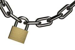 hängande padlock Royaltyfria Bilder