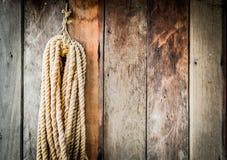 Hängande rep. Arkivfoton