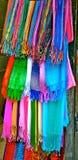 hängande scarves Fotografering för Bildbyråer