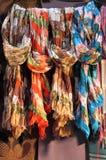 hängande scarves Royaltyfria Bilder