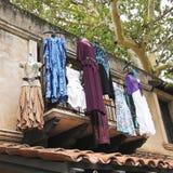 hängande set för boutiqueklänningar åtta Royaltyfria Bilder