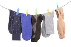 hängande sockor Arkivfoton