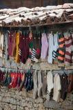 hängande sockor Arkivbild