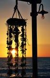 Hängande strandgarnering Arkivfoto
