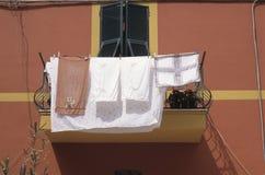 hängande tvätt Royaltyfria Bilder